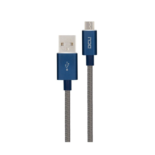 Dcu cable azul gris conexión usb a micro usb 1m