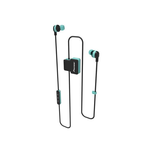 Pioneer se-cl5bt verde auriculares inalámbricos bluetooth diseño en clip con micrófono ipx4