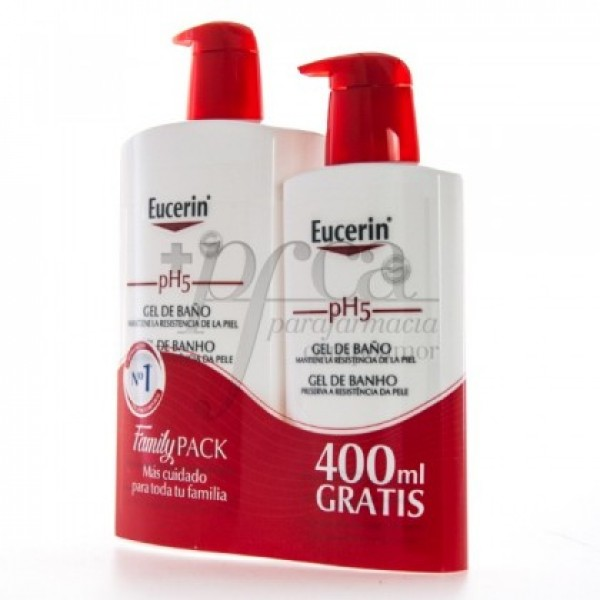 EUCERIN PH5 GEL DE BAÑO 1L + 400ML PROMO