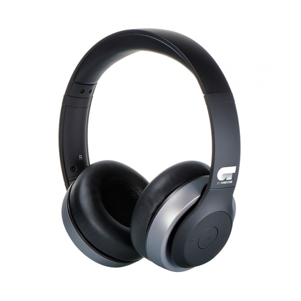 Ot by fonestar harmony gris auriculares inalámbricos bluetooth con micrófono integrado y conexión aux