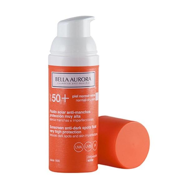 Bella aurora fluido solar anti-manchas spf50 piel normal seca