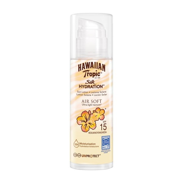 Hawaiian tropic silk hidration air soft ultra-light texture spf15 sunlotion 150ml