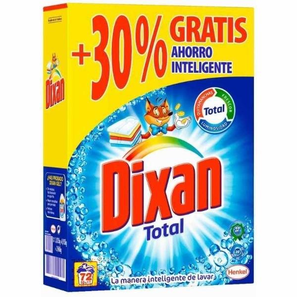 DIXAN Total Detergente 72 dosis 30 % gratis