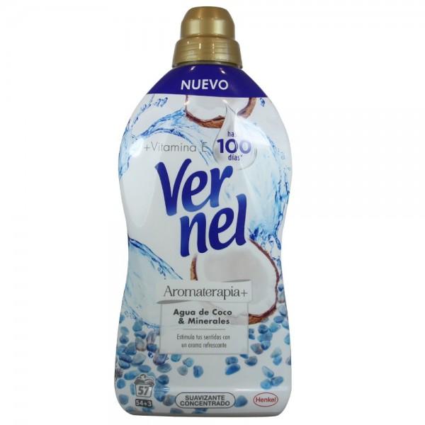 Vernel suavizante agua de coco y minerales 54 + 3 lavados gratis