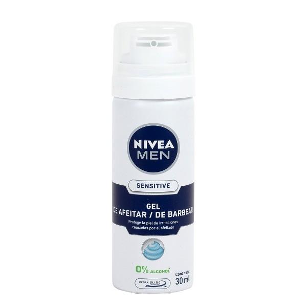 Nivea men gel de afeitar Sensitive formato viaje 30 ml