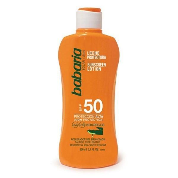 Babaria aloe vera leche corporal spf50 proteccion muy alta 200ml
