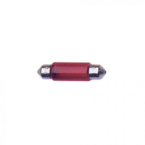 Lámparas Plafonier 12V T11X35 10W Sv8.5D Roja.Blist 2 Unidades