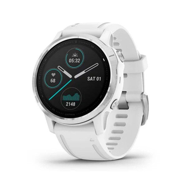 Garmin fénix 6s plata blanco con correa blanca 42mm smartwatch premium multideporte gps integrado wifi bluetooth