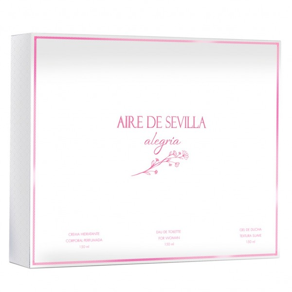 Aire de Sevilla Alegría Colonia Mujer 150 ml + Crema hidratante 150 ml + Gel de Ducha 150l