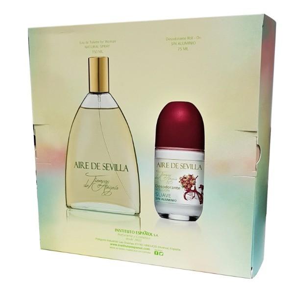 Aire de Sevilla Tiempo de Alegría Mujer Colonia 150 ml + Desodorante Roll-On 75 ml