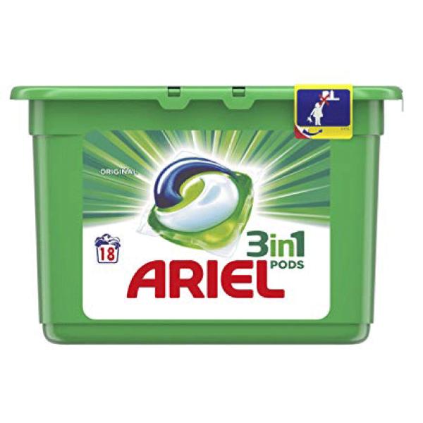 Ariel Detergente en Cápsulas 3en1 18 lavados