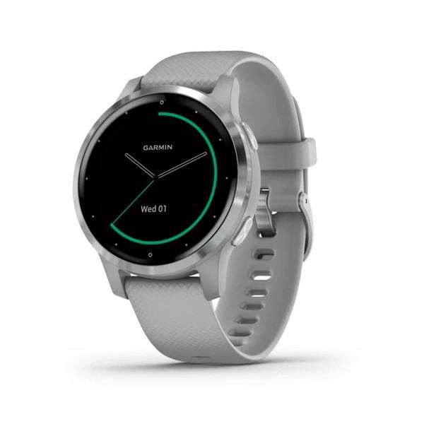 Garmin vivoactive 4s plata con correa gris 40mm smartwatch compacto gps integrado wifi bluetooth