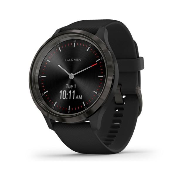 Garmin vivomove 3 ww pizarra negro silicona reloj inteligente híbrido con control de frecuencia cardíaca y pulsómetro