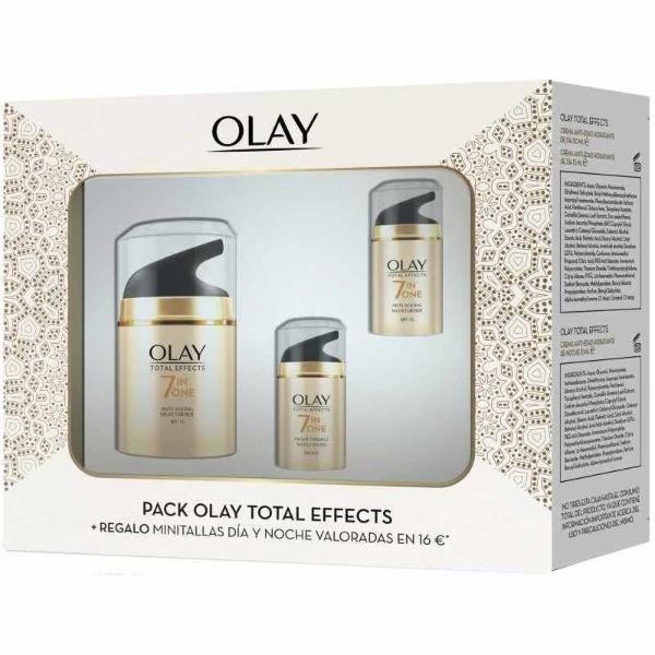 Olay Pack Total Effects Crema Anti-edad de día 50 ml+ Crema Anti-edad de día 15 ml + Crema Anti-edad de noche 15 ml