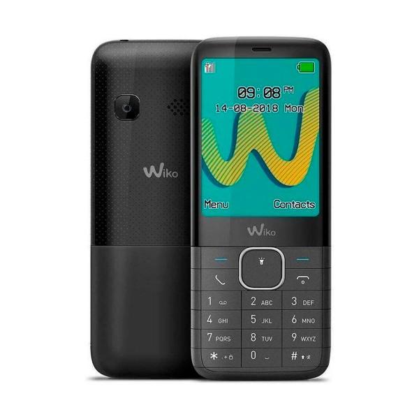 Wiko riff3 plus negro móvil senior dual sim 2.4'' cámara vga bluetooth radio fm