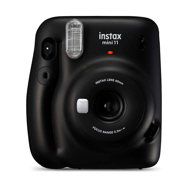Fujifilm instax mini 11 charcoal cámara instantánea con flash de alto rendimiento