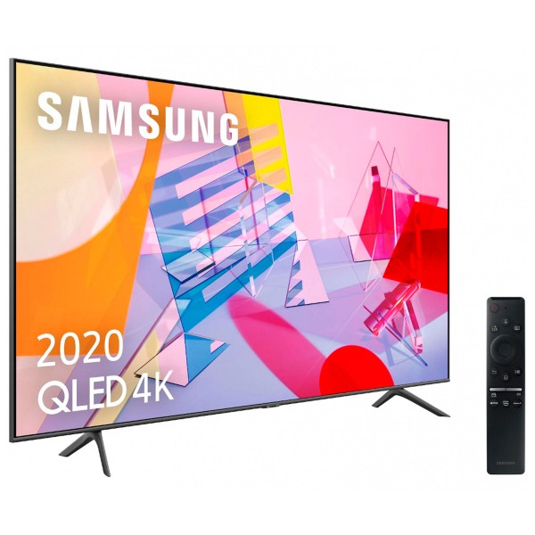 Samsung qe65q60t 2020 televisor 65'' qled 4k quantum hdr smart tv 3100hz pqi