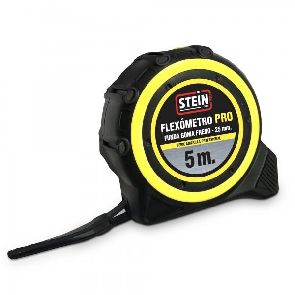 Flexometro stein pro amarillo 5m.25mm.