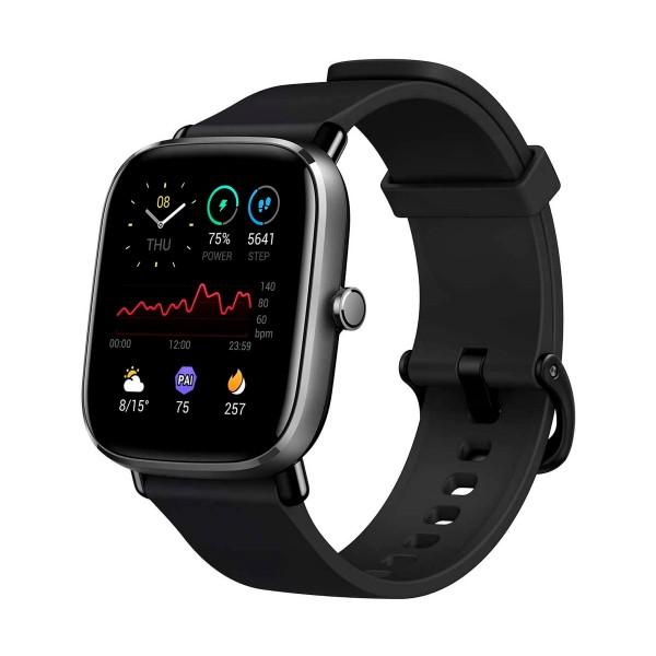 Xiaomi amazfit gts 2 mini negro medianoche smartwatch 1.55'' amoled frecuencia cardíaca spo2 estrés