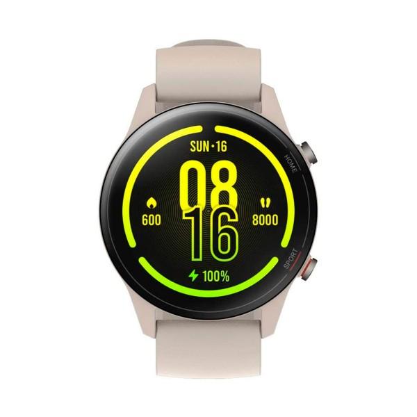 Xiaomi mi watch beige 1.39'' amoled frecuencia cardíaca acelerómetro giroscopio 5atm gps