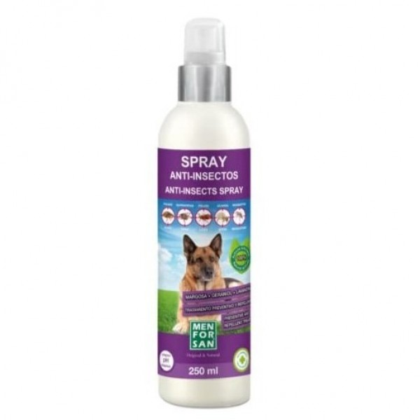 MEN FOR SAN  SPRAY ANTI-INSECTO PARA PERRO 250ML