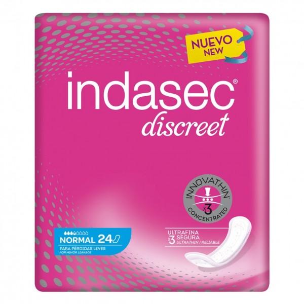 Indasec Discreet Normal 24 compresas